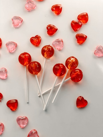 red and white candy sticks
